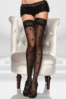 Rockabilly-Stockings S-M schwarz