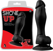 Analplug Shove Up Butt Plug Penis mit Saugfuss