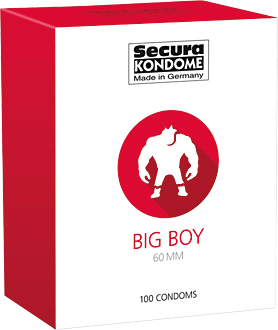 Secura Kondome Big Boy 60 mm, 100 Stück