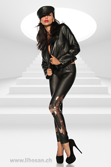 Wetlook-Leggings OS